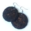 Kép 2/2 - Natúr fülbevaló égetett mintával