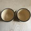 Kép 4/4 - !Használt! retro, virágmintás fém bögre párban