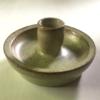 Kép 1/2 - Kerámia gyertyatartó, zöld-barna
