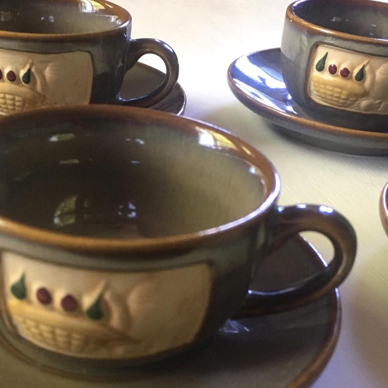 Kerámia kávés készlet (használt)