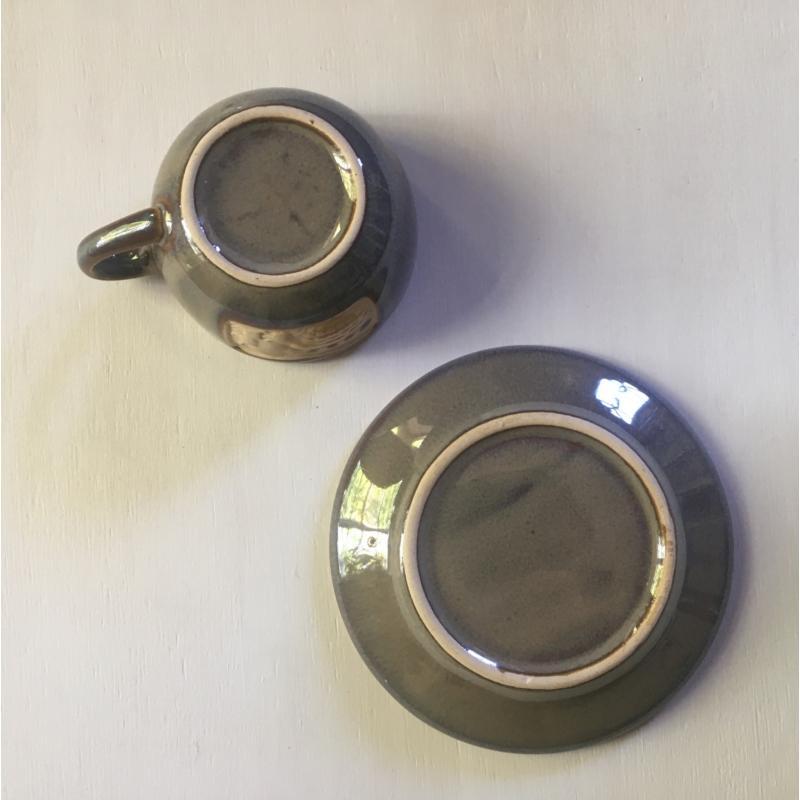 !Használt! kerámia kávés készlet